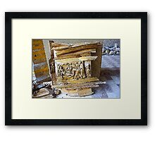 L'Aquila: collapsed church with rubble Framed Print
