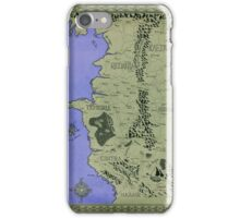 Witcher map done in Ink - COLOR iPhone Case/Skin