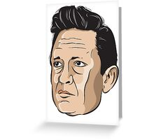 The Man In Black Greeting Card