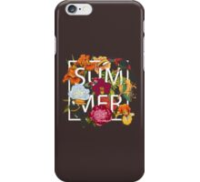Floral and birds toucans iPhone Case/Skin