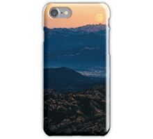 Moonrise in mountains iPhone Case/Skin