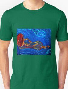 Woman lying down Unisex T-Shirt