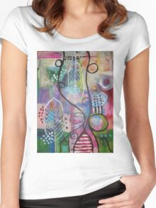 Colourful world Women's Fitted Scoop T-Shirt