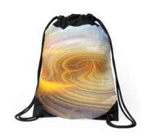 Abstract White Spotted Jelly Fish glow Drawstring Bag