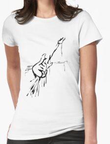 Splatter Guitar (black) Womens Fitted T-Shirt