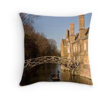 Mathematical Bridge on the River Cam Cambridge  Throw Pillow