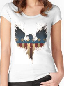 Patriotic Symbol Women's Fitted Scoop T-Shirt