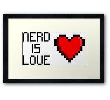Nerd is Love (heart) Framed Print