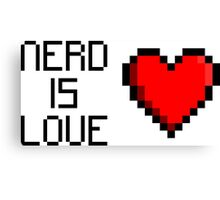 Nerd is Love (heart) Canvas Print