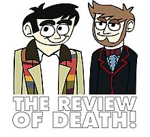The Review of Death cartoon (artwork by Ewan Wallace) Photographic Print