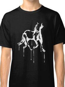 Splatter Horse (white) Classic T-Shirt