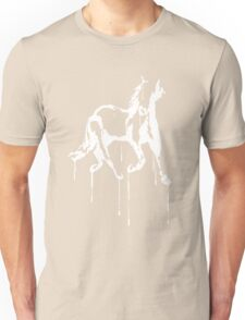 Splatter Horse (white) Unisex T-Shirt