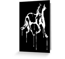 Splatter Horse (white) Greeting Card