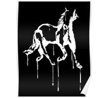 Splatter Horse (white) Poster