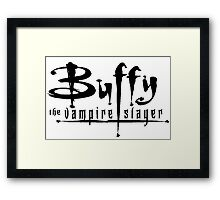 Buffy Logo Framed Print