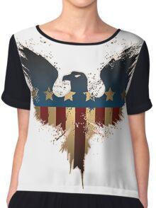 Patriotic Symbol Chiffon Top