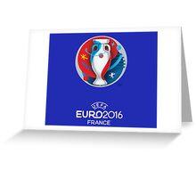 UEFA euro 2016 Greeting Card