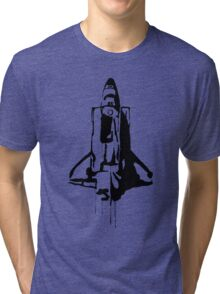 Splatter Space Shuttle (black) Tri-blend T-Shirt