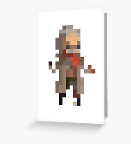 Revolver Ocelot Pixelart Greeting Card