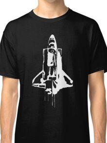 Splatter Space Shuttle (white) Classic T-Shirt