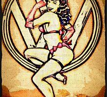 Split screen pin up girl by Sharon Poulton