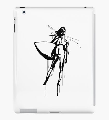 Splatter Surfer Girl (black) iPad Case/Skin