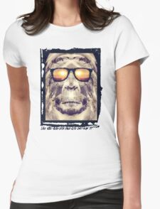 Bigfoot In Shades Womens Fitted T-Shirt