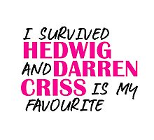 I survived Hedwig and Darren Criss is my favourite Photographic Print