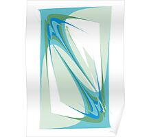 Blue Abstraction Poster