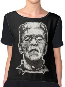 Frankenstein pen drawing! Chiffon Top