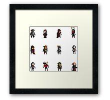 Fantasy Pixelart Framed Print