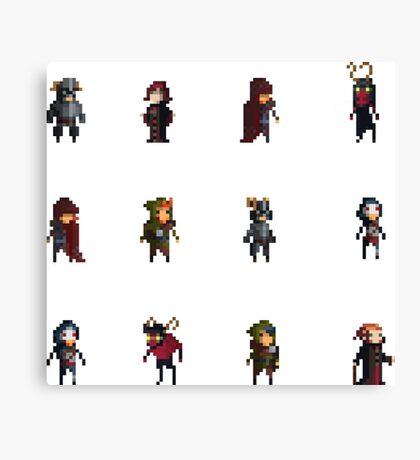 Fantasy Pixelart Canvas Print