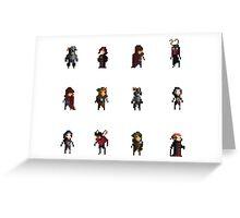 Fantasy Pixelart Greeting Card