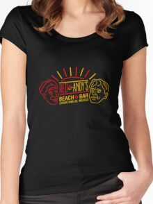 Red and Andy's Beach Bar, Zihuatanejo Women's Fitted Scoop T-Shirt