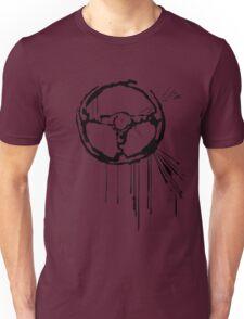 Splatter Steering Wheel (black) Unisex T-Shirt