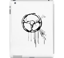 Splatter Steering Wheel (black) iPad Case/Skin