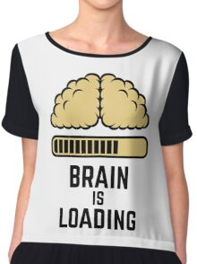 Brain Is Loading (Beige) Chiffon Top