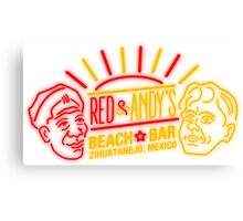 Red and Andy's Beach Bar, Zihuatanejo Canvas Print