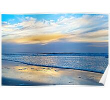 blue reflections and calm waves Poster