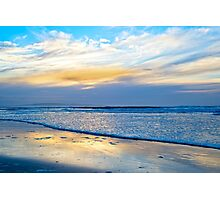blue reflections and calm waves Photographic Print