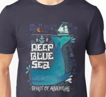 Deep blue sea. Spirit of adventure. Unisex T-Shirt