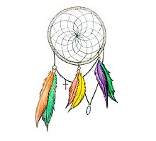 Dream Catcher Pencil Drawing Photographic Print