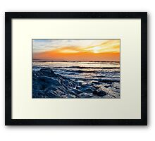 blue rocks at rocky beal beach Framed Print