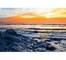 blue rocks at rocky beal beach Photographic Print