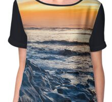 blue rocks at rocky beal beach Chiffon Top