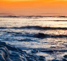 blue rocks at rocky beal beach Sticker