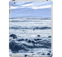 blue toned rocky beal beach iPad Case/Skin