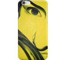 Yellow me, 50-70cm, 2011, oil on canvas iPhone Case/Skin