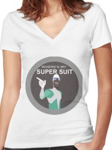 Frozone-Incredibles Women's Fitted V-Neck T-Shirt