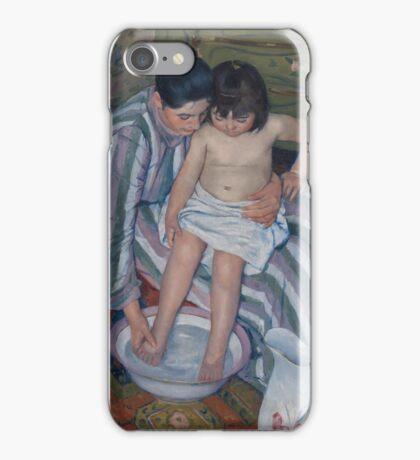 Mary Cassatt - The Child s Bath 1893 iPhone Case/Skin